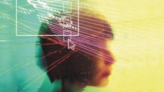 Una persona de perfil, en una imagen que representa la idea de inteligencia