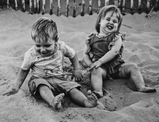 Children on a beach