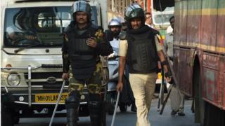 Police patrol in Mumbai