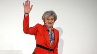 Le Premier ministre, Theresa May, lors du forum des Conservateurs en mars 2017 à Cardiff