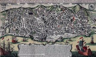 Depiction of Lisbon before the 1755 earthquake, by Georg Matthaus Seutter (1678-1757)