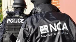 National Crime Agency officers during a training exercise