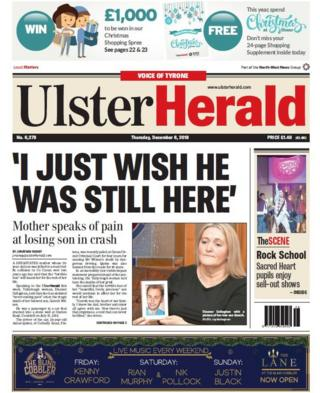 front page of the Ulster Herald, Thursday 6 December 2018