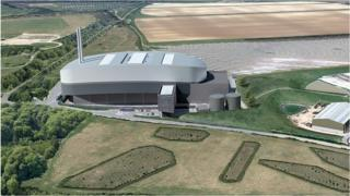 """Zinc and dark clad"" Harewood incinerator design 1.11.19"