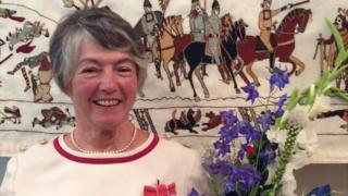 Kate Russell with the Alderney ending to the Bayeux Tapestry