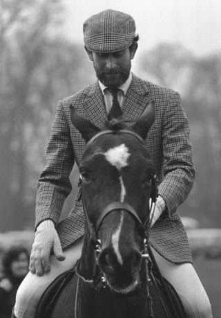 Prince of Wales at Badminton, during the Horse Trials