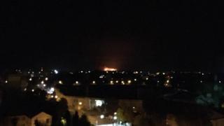 Пожежа на складі із боєприпасами