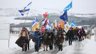 Protest at Culloden Battlefield