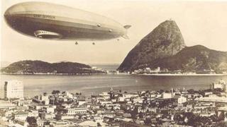 Dirigível sobrevoa o Rio de Janeiro