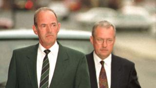 Bernard Murray and David Duckenfield during the unsuccessful private prosecution by families, 1998