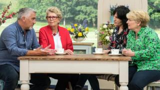 Paul Hollywood, Prue Leith, Noel Fielding and Sandi Togsvig