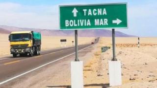 Salida por puerto peruano