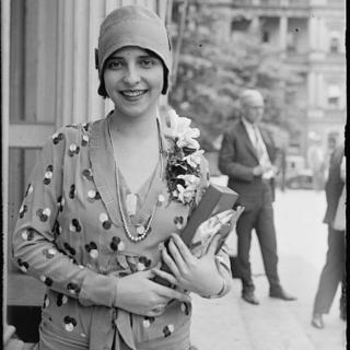 A Miss Brasil Olga Bergamini de Sá, em Galveston, Texas, 1929