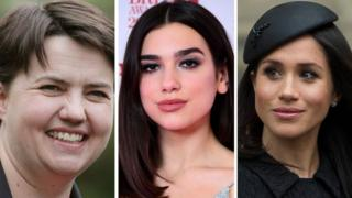 Ruth Davidson, Dua Lipa, Duchess of Cambridge
