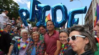 Taoiseach Leo Varadkar and Tánaiste (Deputy Prime Minister) Frances Fitzgerald attended the Dublin Pride parade