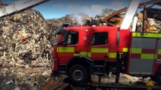 Fire in Huddersfield