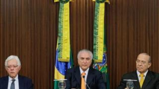 Moreira Franco e Eliseu Padilha, ex-ministros de Temer