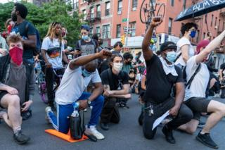 BLM protesters in New York