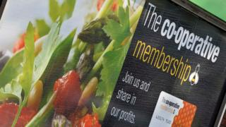 Co-operative retail store signage