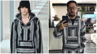 Comparación entre el poncho de Michael Kors y el mexicano