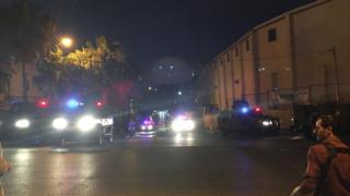 Security trucks seen near the Israeli embassy in Amman