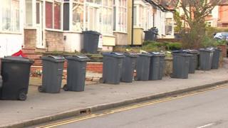 Bins in Selly Oak, Birmingham