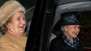 Magaret Rhodes and the Queen