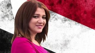 Amal Fathy memprotes pemerintah soal pelecehan seksual.