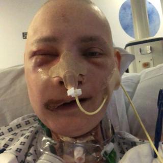 Jen Taylor in hospital