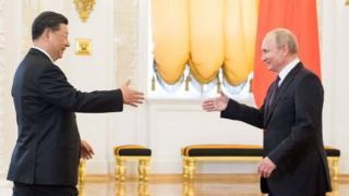 周三習近平訪問莫斯科,他被說成普京總統最重要的外國盟友之一。