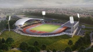 Artists impression of Birmingham's Alexander Stadium