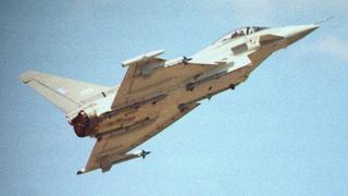 EFA 2000 European Fighter Aircraft Eurofighter at Farnborough Airshow in 1996