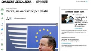 Article in the Italian daily Corriere della Sera on 16 May 2016.