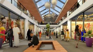 Artist's impression of the shopping centre