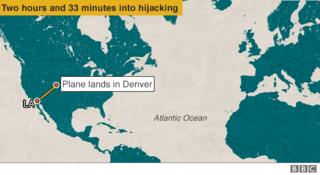 Plane lands in Denver - two hours and 33 minutes into hijack