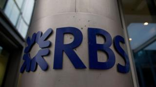 RBS sign at the bank's headquarters