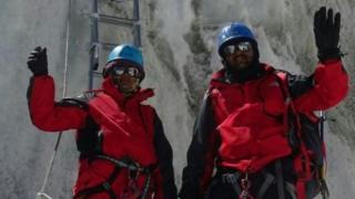 Пара альпинистов