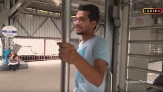 The men were filmed doing the Kiki challenge on a local train in Mumbai