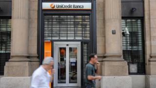 Unicredit bank exterior
