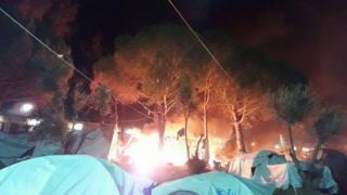 Moria fire, 24 Nov 16