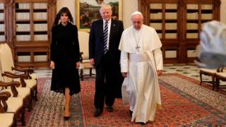 Melania Trump in black at the Vatican. Why?