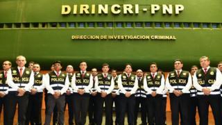 """Miembros de la """"Brigada especial contra la migración delictiva""""."""