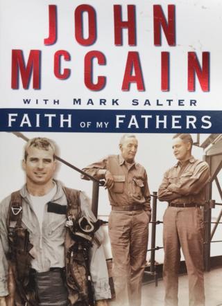 """Hình bìa hồi ký """"Faith of My Fathers"""" của TNS John McCain"""