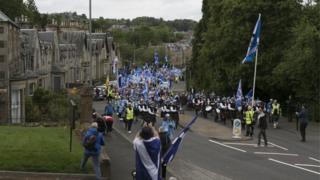 March through Galashiels