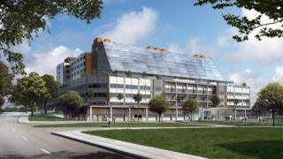Artist impression of the Midland Metropolitan hospital