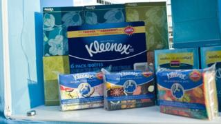 Kleenex brand visits Chicago to help consumers prepare for cold and flu season at the Kleenex Brand Checkpoint Chicago at Union Station on September 25, 2013 in Chicago, Illinois.