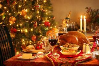 Roast turkey at Christmas
