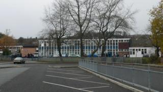 The outside of the Bryn Alyn comprehensive school in Wrexham