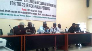 INEC ogas on Sunday for Bauchi state