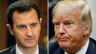 Beşar Esad ve Donald Trump